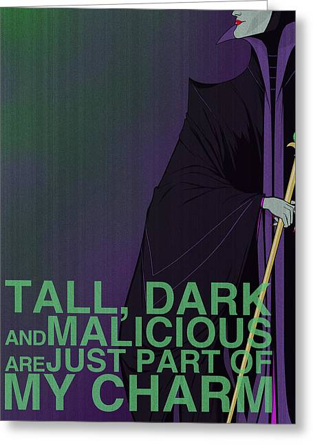 Green Digital Art Greeting Cards - Villains Poster - Maleficent Greeting Card by Christopher Ables