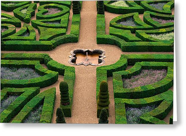 Paix Greeting Cards - Villandry Chateau Gardens, Loire Greeting Card by Panoramic Images