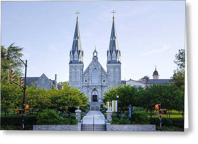 Radnor Greeting Cards - Villanova Cathedral Greeting Card by Bill Cannon