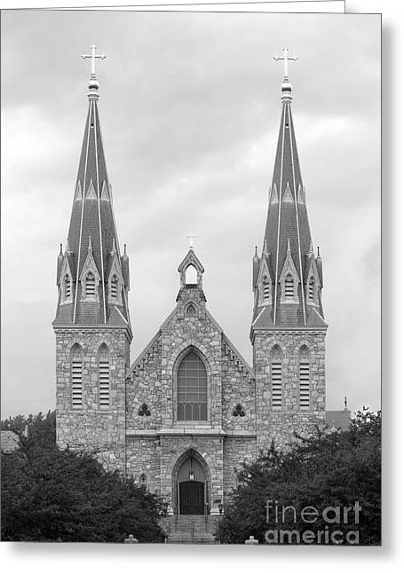 Wildcat Greeting Cards - Villanova University St. Thomas of Villanova Church Greeting Card by University Icons