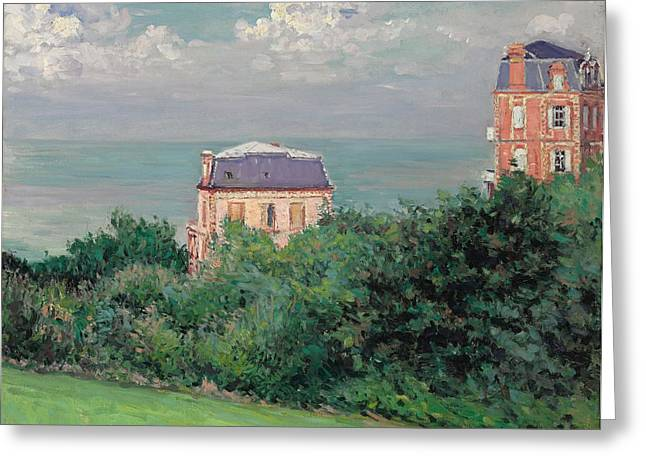 Breezy Greeting Cards - Villas at Villers-sur-Mer Greeting Card by Gustave Caillebotte