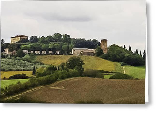 Ville di Corsano near Siena - Tuscany Italy Greeting Card by Karen Stephenson