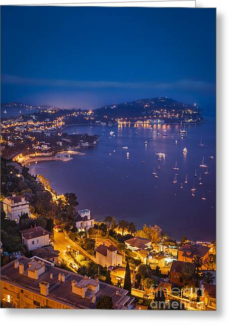 Azur Greeting Cards - Villefranche-Sur-Mer Greeting Card by Brian Jannsen