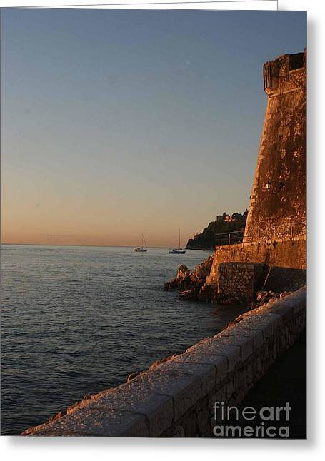 Nature And Landscape Photography Greeting Cards - Villefranche-sur-Mer I Greeting Card by Tom Prendergast