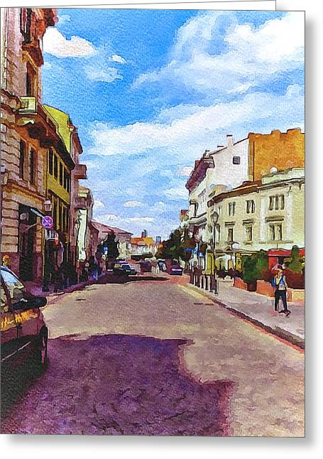 Lithuania Greeting Cards - Vilnius Old Town 11 Greeting Card by Yury Malkov