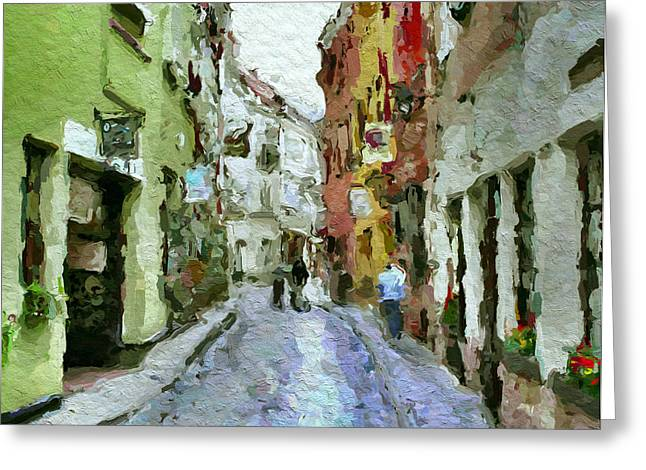 Vilnius Old Town 36 Greeting Card by Yury Malkov
