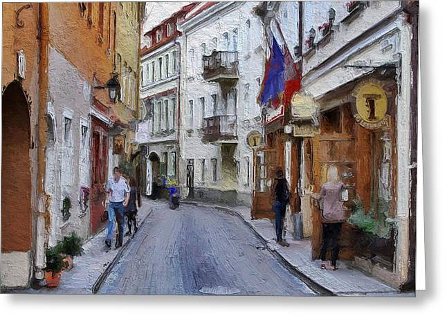 Vilnius Old Town 37 Greeting Card by Yury Malkov