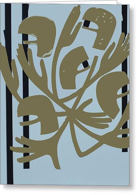 Hard Edged Greeting Cards - Vimy Ridge, 1968 Acrylic On Board Greeting Card by Ron Waddams