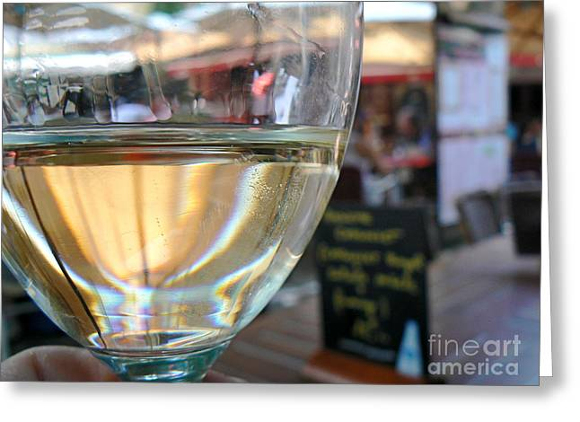 Vin Blanc Greeting Card by France  Art