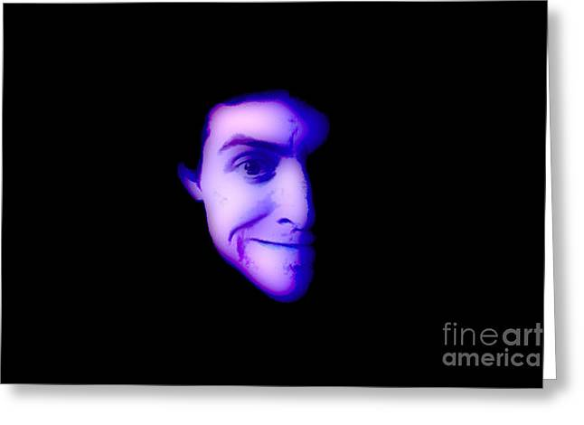 Alter Ego Greeting Cards - Vin Greeting Card by Devin  Cogger