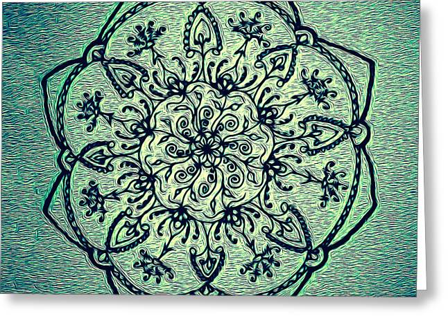 Sacred Drawings Greeting Cards - Vina del Mar 2 Greeting Card by Heather Bach