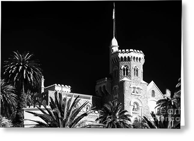 Vineyard Poster Greeting Cards - Vina del Mar Presidential Palace Greeting Card by John Rizzuto