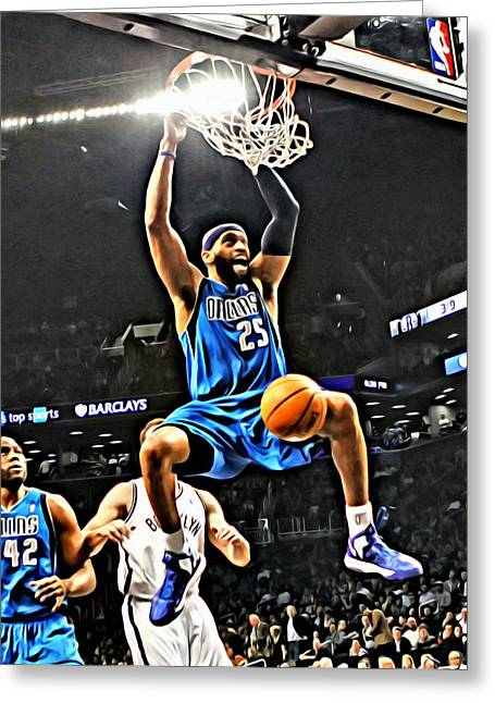 Slamdunk Greeting Cards - Vince Carter Greeting Card by Florian Rodarte