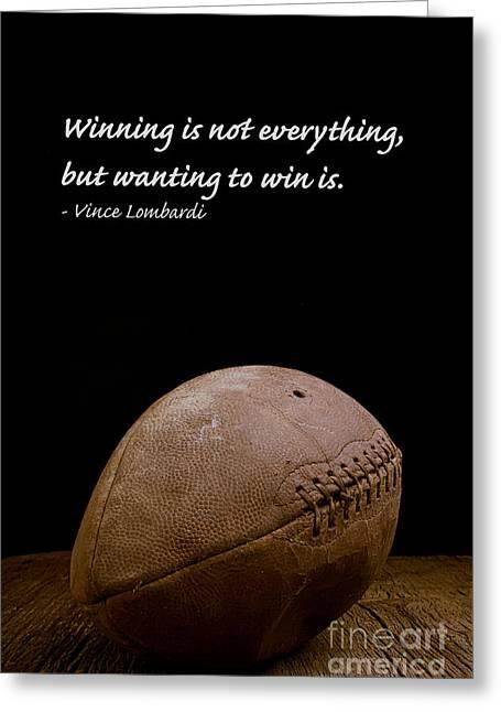 Vince Lombardi On Winning Greeting Card by Edward Fielding