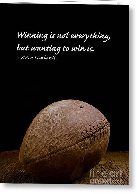 Vince Greeting Cards - Vince Lombardi on Winning Greeting Card by Edward Fielding