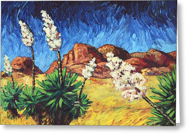 Gogh Greeting Cards - Vincent in Arizona Greeting Card by James W Johnson