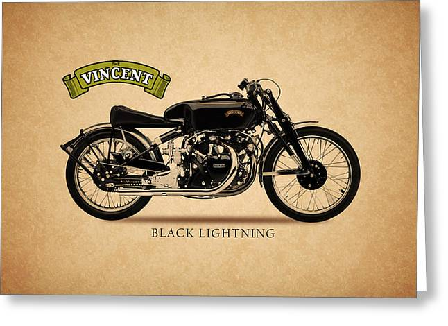 Samsung Greeting Cards - Vincent Black Lightning Greeting Card by Mark Rogan
