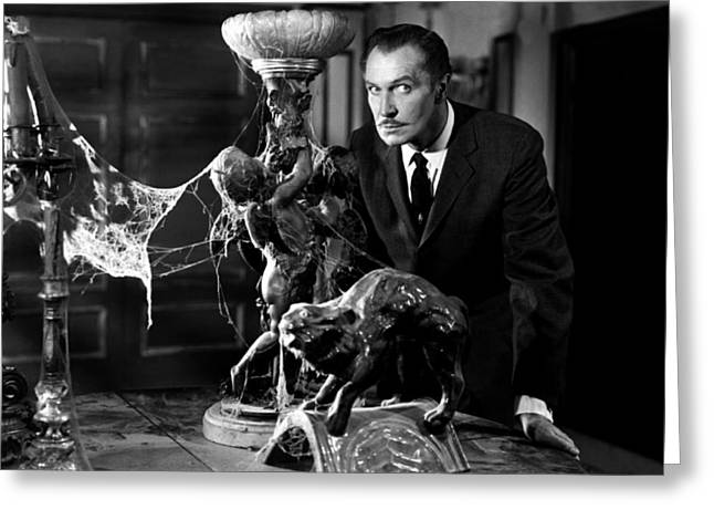 Old Tv Greeting Cards - Vincent Price Greeting Card by Mountain Dreams