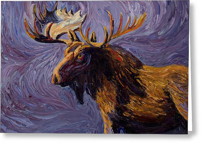 Pallet Knife Greeting Cards - Vincent Van Moose Greeting Card by Mary Giacomini