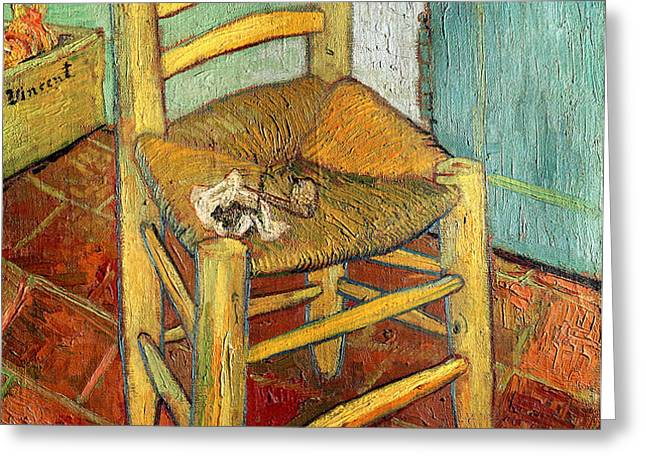 Vincent's Chair 1888 Greeting Card by Vincent van Gogh