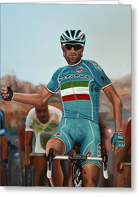Sicily Greeting Cards - Vincenzo Nibali Greeting Card by Paul Meijering