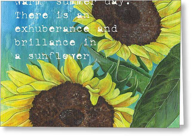 Vince's Sunflowers 1 Greeting Card by Debbie DeWitt