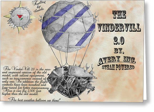 Vindervill 2.0 Greeting Card by Avery Taylor