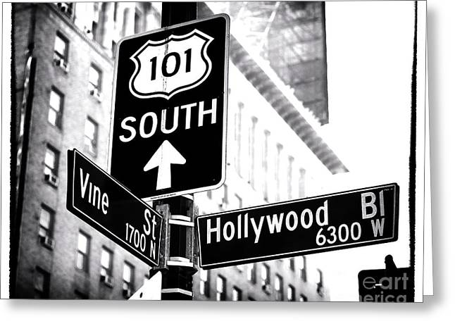 Vine And Hollywood Greeting Card by John Rizzuto