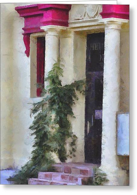 Entryway Paintings Greeting Cards - Vine Hugger  Greeting Card by L Wright
