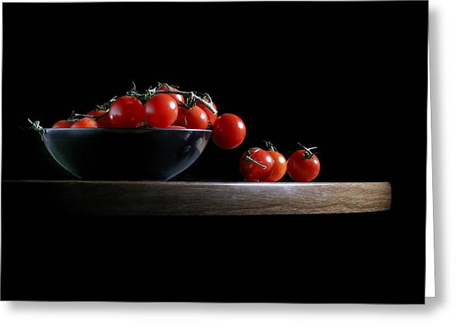 Vine Ripe Tomatoes Greeting Card by David and Carol Kelly
