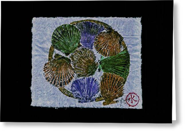 Shark Fossil Art Greeting Cards - Vineyard Bay Scallops  Greeting Card by Jeffrey Canha