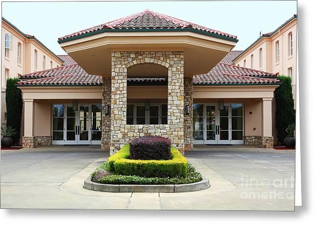 Hyatt Hotel Greeting Cards - Vineyard Creek Hyatt Hotel Santa Rosa California 5D25792 Greeting Card by Wingsdomain Art and Photography