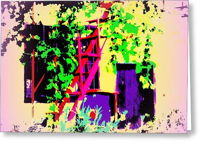 Psychiatric Greeting Cards - Vineyard In My Stairs Greeting Card by Hilde Widerberg