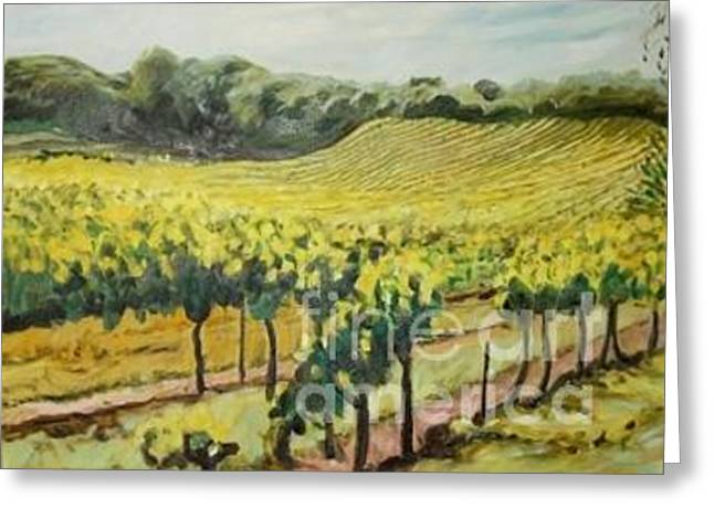 Quite Pastels Greeting Cards - Vineyard In Provence Greeting Card by Ralph Williams
