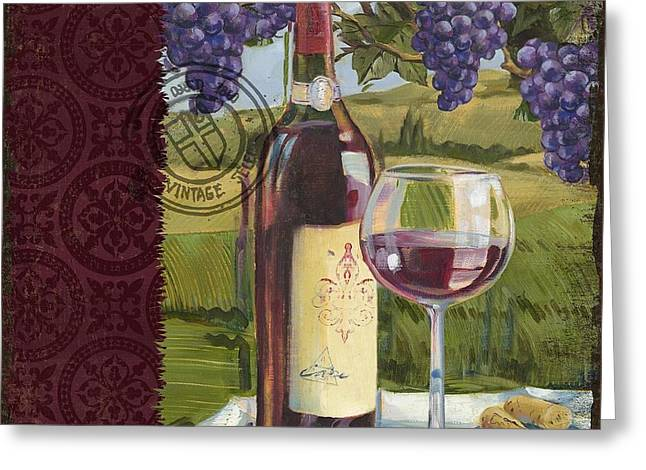 Chianti Greeting Cards - Vineyard Wine Tasting Collage I Greeting Card by Paul Brent
