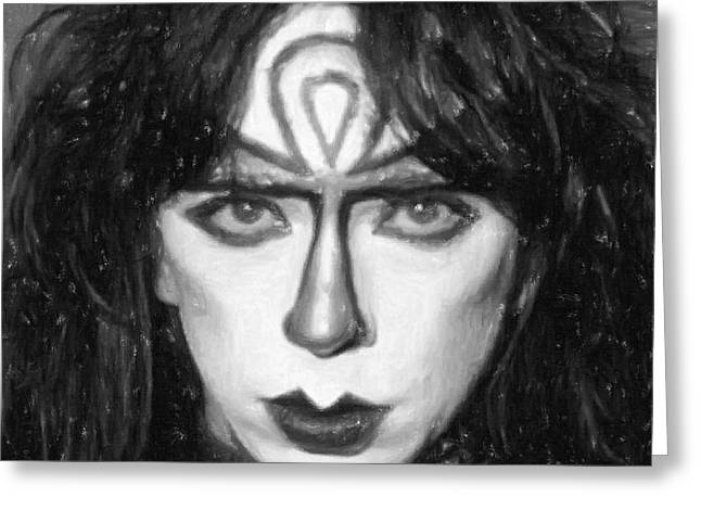 Hunter Pastels Greeting Cards - Vinnie Vincent Greeting Card by Antony McAulay