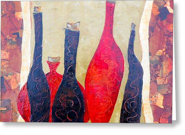 Vino 1 Greeting Card by Phiddy Webb