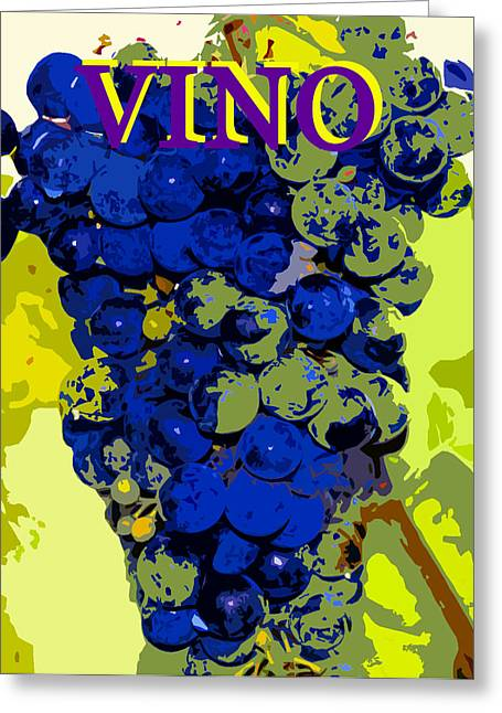 Posters On Digital Greeting Cards - VINO spc work purple Greeting Card by David Lee Thompson
