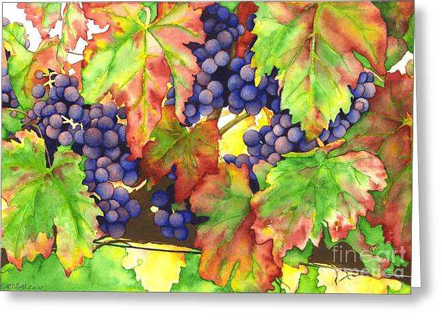 Recently Sold -  - Red Wine Prints Greeting Cards - Vinous Greeting Card by TR O