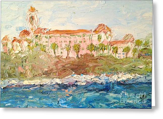 Midday Paintings Greeting Cards - Vinoy Basin Greeting Card by Diane Phelps
