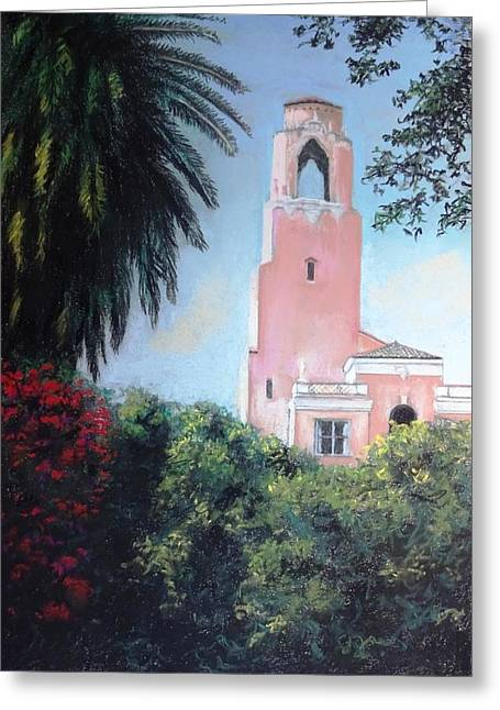 St Petersburg Florida Pastels Greeting Cards - Vinoy Tower Greeting Card by Vincent Mancuso