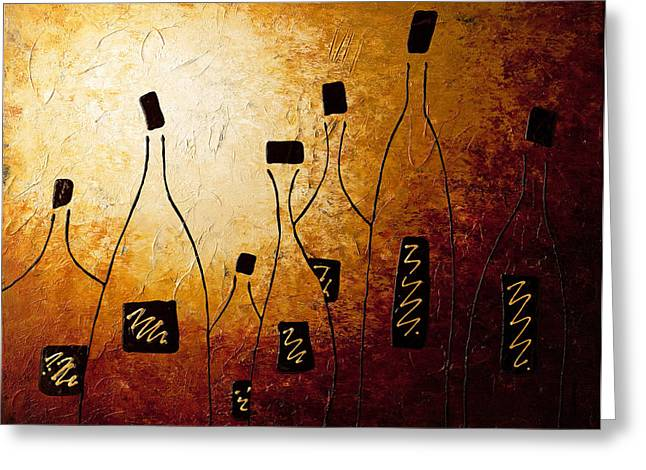Wine Art Greeting Cards - Vins de France Greeting Card by Carmen Guedez