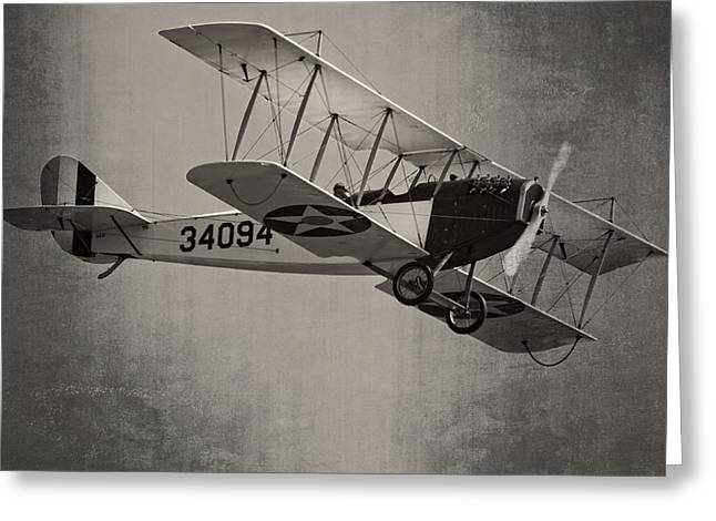 Curtiss Greeting Cards - Vintage 1917 Curtiss JN-4D Jenny Flying  Greeting Card by Keith Webber Jr