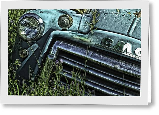 American Motors Corporation Greeting Cards - Vintage 1950s GMC Truck Greeting Card by Thomas Schoeller