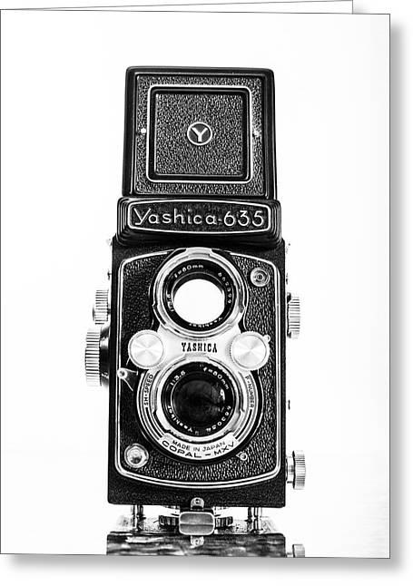 Vintage 1950s Yashica 635 Camera Greeting Card by Jon Woodhams