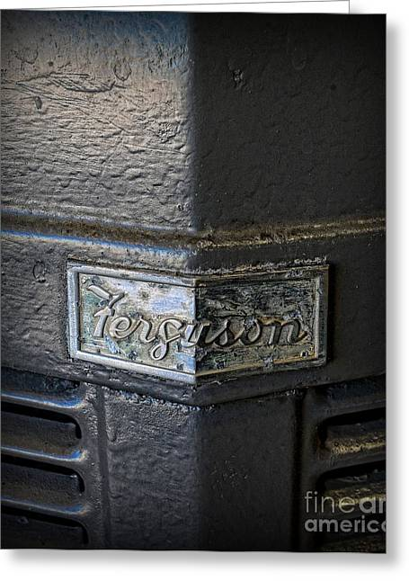 Gunmetal Greeting Cards - Vintage 1954 Ferguson Tractor Greeting Card by Paul Ward