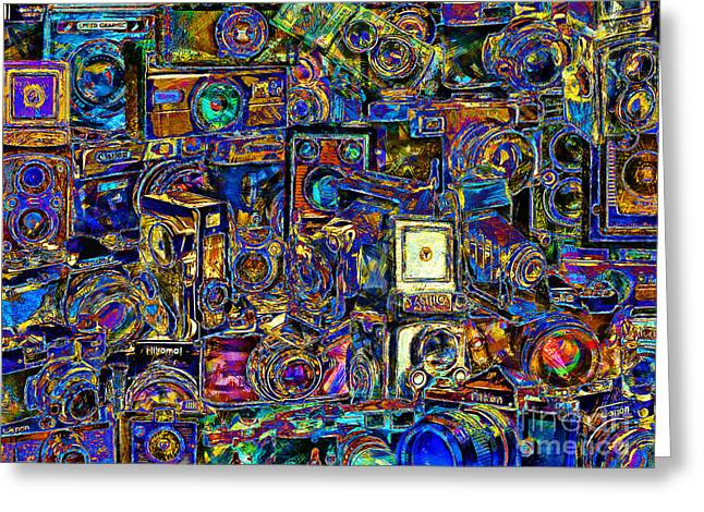 Speed Camera Greeting Cards - Vintage Abstract Photography 20150208 v2 Greeting Card by Wingsdomain Art and Photography