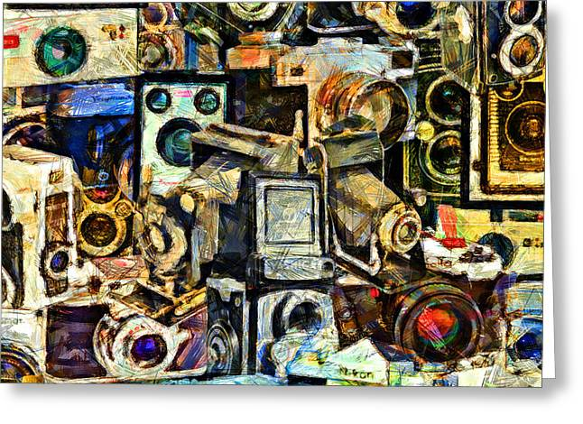Reflex Greeting Cards - Vintage Abstract Photography 20150208 v3 square Greeting Card by Wingsdomain Art and Photography