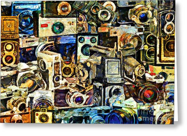 Speed Camera Greeting Cards - Vintage Abstract Photography 20150208 v3 Greeting Card by Wingsdomain Art and Photography