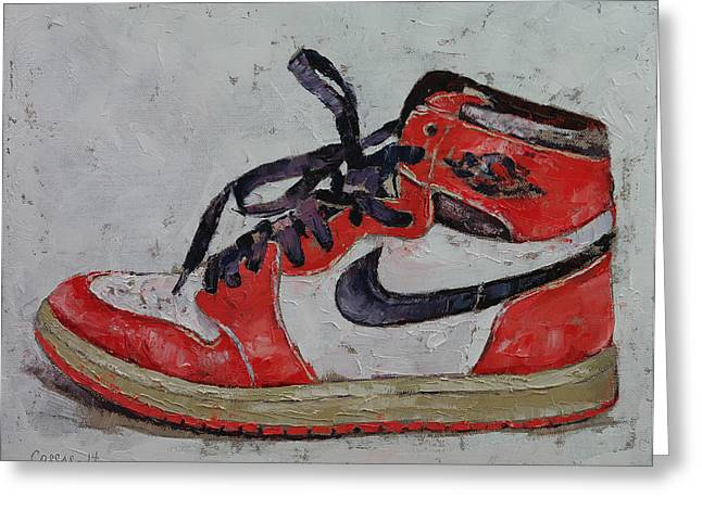Basketball Shoes Greeting Cards - Vintage Air Greeting Card by Michael Creese